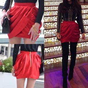 **Rare** Balmain X H&M red skirt